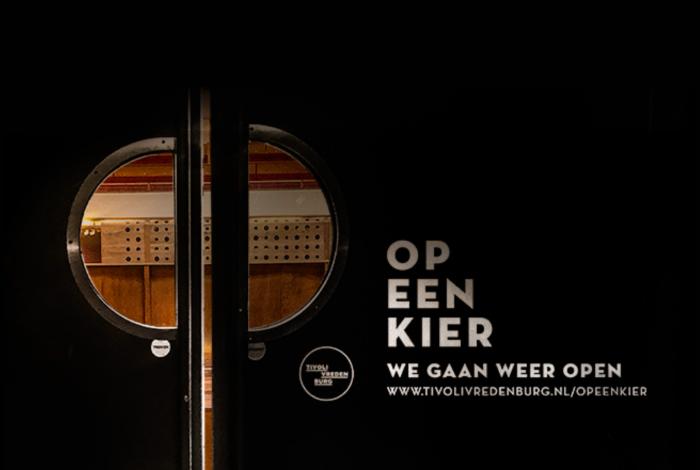 TivoliVredenburg gaat weer open 'Op Een Kier'